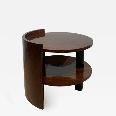 Art Deco Sofa or Side Table Walnut Veneer French Polish France circa 1930