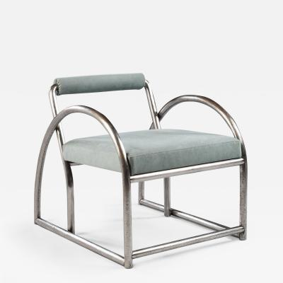 Art Deco Steel Armchair