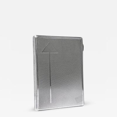 Art Deco Sterling Silver Cigarette Case Box Birmingham 1930 Frederick Field