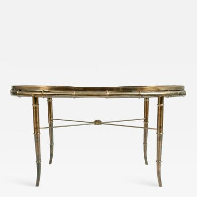 Art Deco Style Brass Glass Coffee Table