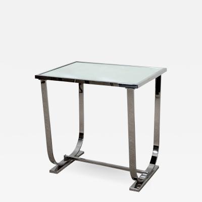 Art Deco Style Chrome Side Table