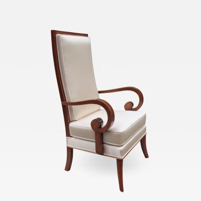 Art Deco Tall Back Armchair