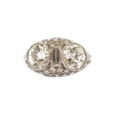 Art Deco Two Stone Diamond Ring