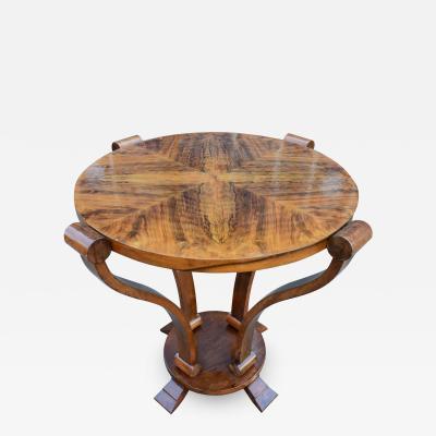 Art Deco Two Tier Centre Table in Figured Walnut circa 1930