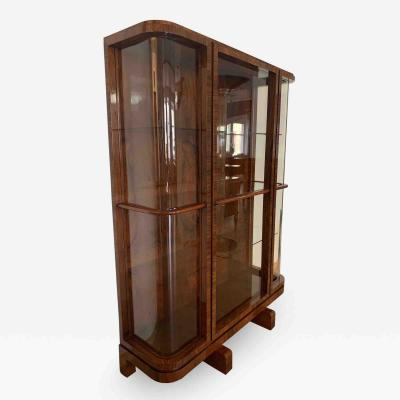Art Deco Vitrine Display Case Rosewood Veneer France circa 1930