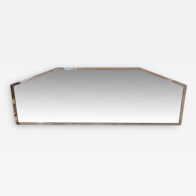 Art Deco Wall Mirror Chrome Plated on Wood Facet Cut France circa 1930