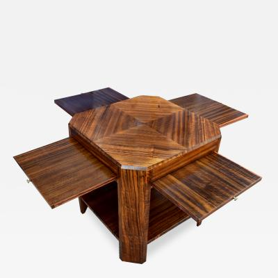 Art Deco Walnut Book Table Circa 1930