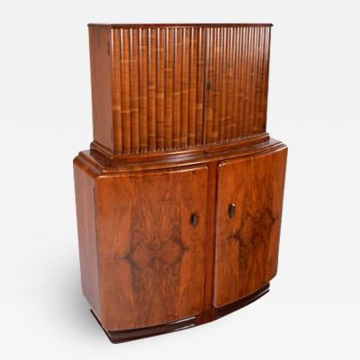 Art Deco Walnut Cocktail Cabinet 1930s