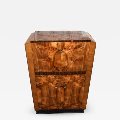 Art Deco Walnut Cocktail Cabinet Circa 1930