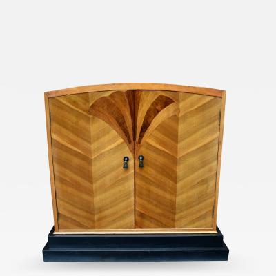 Art Deco Walnut Linen Cupboard