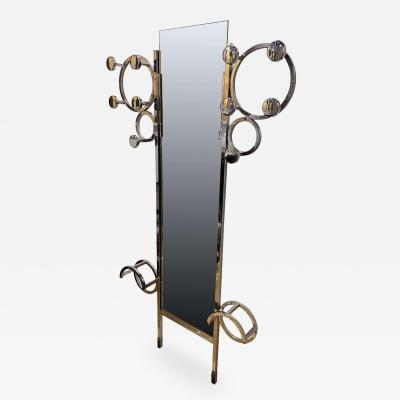 Art Deco Wardrobe Chromed Steeltubes and Mirror France circa 1930