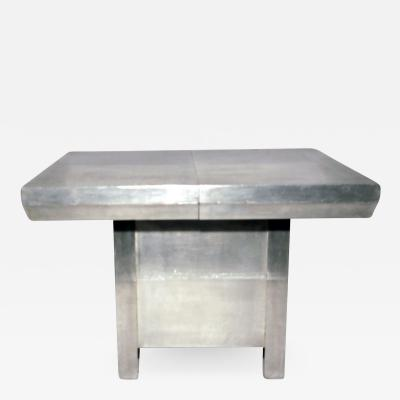 Art Deco aluminum extension table