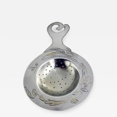 Art Nouveau Aesthetic Sterling Tea Strainer C 1890