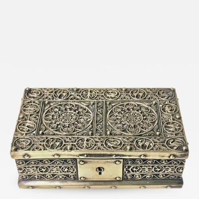 Art Nouveau Brass Jewellery Box Germany C 1920 probably Erhard S hne