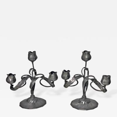 Art Nouveau Candelabra Candlesticks Orivit Germany C 1900