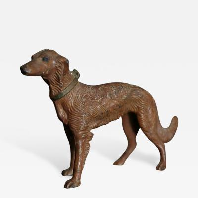 Art Nouveau Cast Iron Decorative Object or Doorstop Depicting a Borzoi