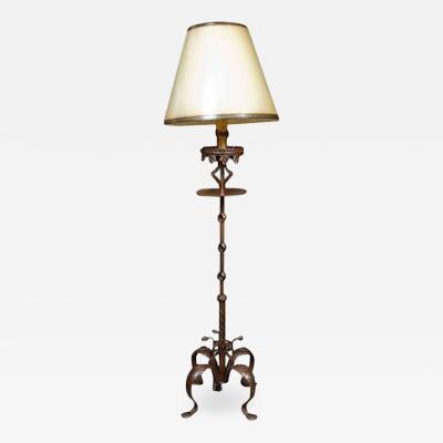 Art Nouveau Gothic Style Standing Lamp