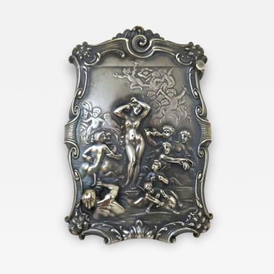 Art Nouveau Nude Sterling Silver Match Safe circa 1890s