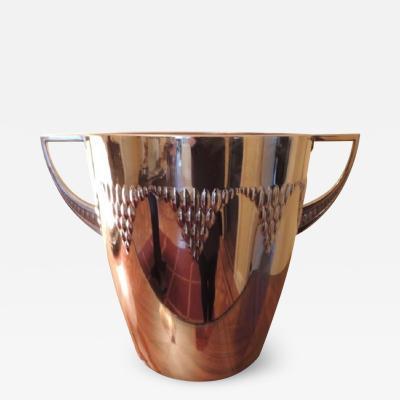 Art Nouveau Repousse Silver Champagne Bucket