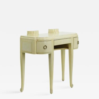 Art deco french parchment vanity table