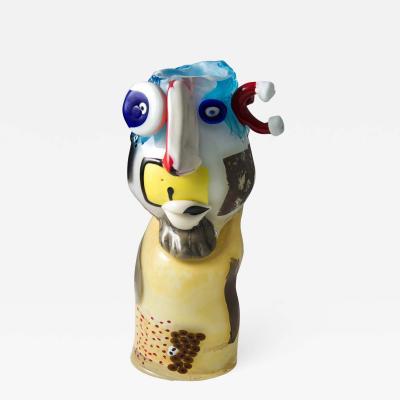 Art glass head sculpture
