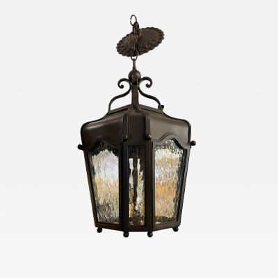 Arte De Mexico Wrought Iron Spanish Colonial Lantern Chandelier