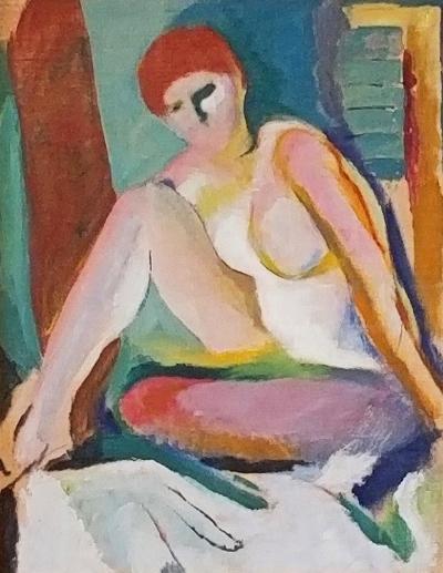 Arthur Beecher Carles Modernist Seated Nude