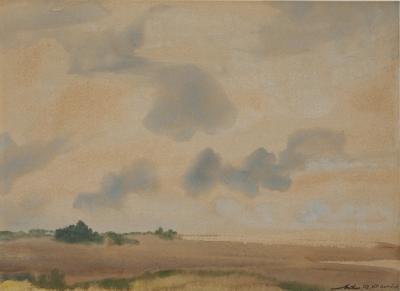 Arthur Bowen Davies Long Island Landscape
