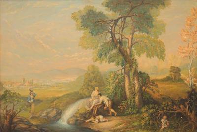 Arthur Bray Late 19th C Italian Oil on Canvas by Arthur Bray