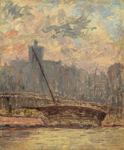 Arthur Clifton Goodwin City View from the Harbor