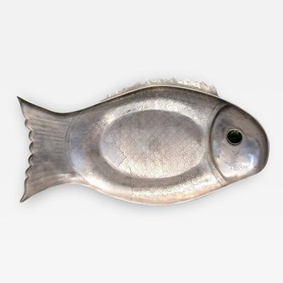 Arthur Court Arthur Court Aluminum Gem Stone Eye Fish Platter