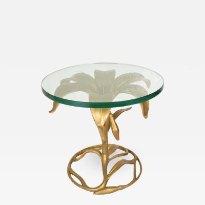 Arthur Court Hollywood Regency Side Aluminum Table by Arthur Court Gilded Lily