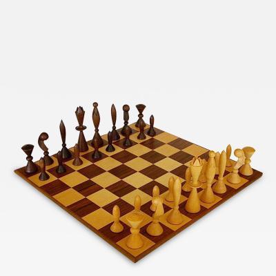 Arthur Elliott Universum Space Age Chess Set Arthur Elliott for Anri w Box Board 1958