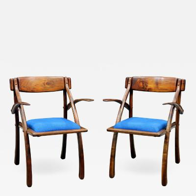 Arthur Espenet Carpenter Rare Pair of Wishbone Chairs by Arthur Espenet Carpenter