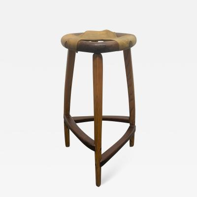 Arthur Espenet Carpenter Signed Arthur Espenet Carpenter Rawhide Stool