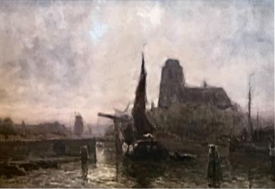 Arthur Feudel Dordrech a Dutch Canal City by Arthur Feudel 1857 1929