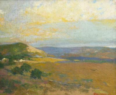 Arthur Frank Mathews Northern California Landscape