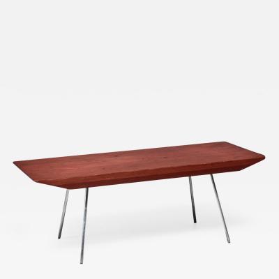 Arthur L Lindauer Pine and Aluminum Rectangular Coffee Table USA