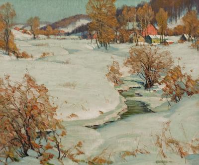 Arthur Meltzer The Mill Stream in Winter