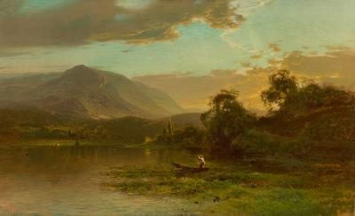 Arthur Parton Fishing at Sunrise
