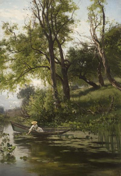 Arthur Parton Woman in a Rowboat