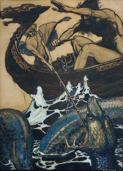 Arthur Rackham Sea Battle Stories from the Edda