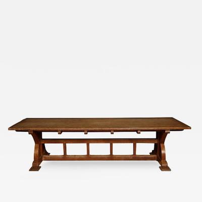 Arthur Romney Green A Large Arts and Crafts Oak Library Table attributed to A Romney Green