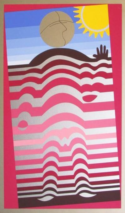 Arthur Secunda Colorful Framed Lithograph by Arthur Secunda