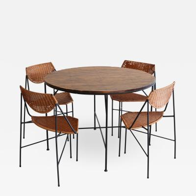 Arthur Umanoff ARTHUR UMANOFF DINING TABLE AND CHAIRS
