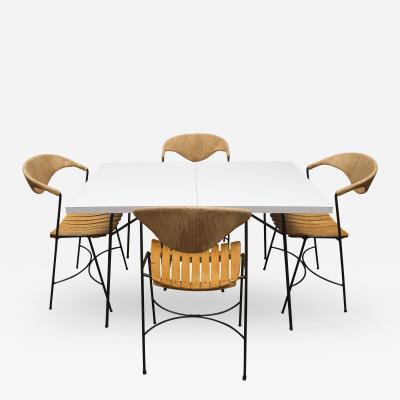 Arthur Umanoff Italian Mid Century Dining Set by Arthur Umanoff