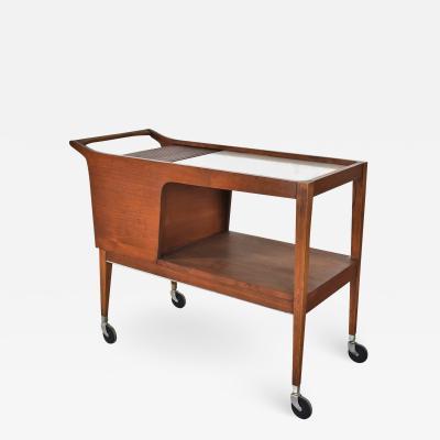 Arthur Umanoff Mcm arthur umanoff for cavalier dimension group rolling server bar cart walnut