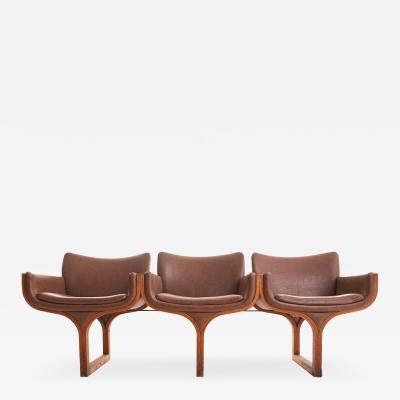 Arthur Umanoff Midcentury Bentwood Sculptural Arthur Umanoff Three Seat Bench