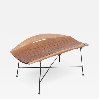 Arthur Umanoff Rare Wrought Iron Arthur Umanoff Magazine Side Table or Bench