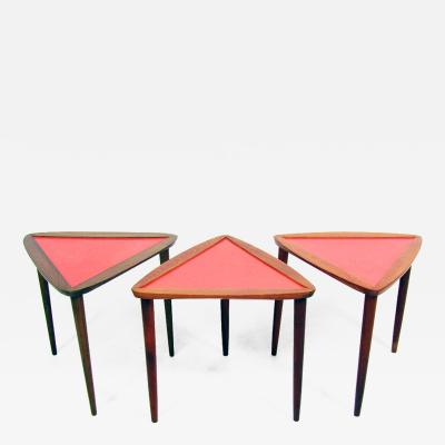 Arthur Umanoff Three 1960s Nesting Tables By Arthur Umanoff